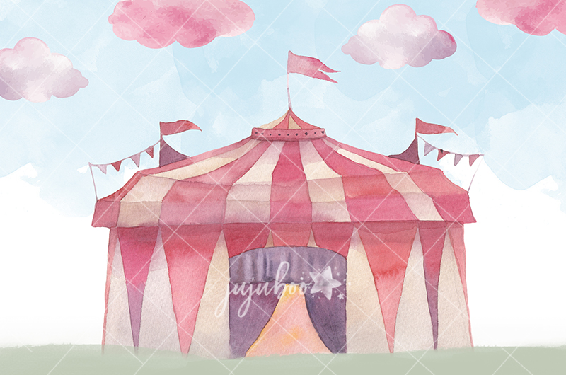 Jujuboo Circus Tent Photography Backdrop