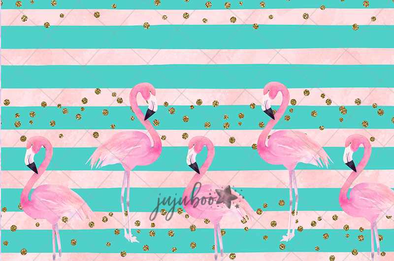 Jujuboo Flamingo Photography Backdrop