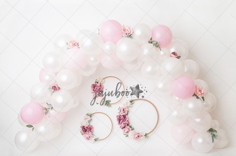 Jujuboo Garland and Hoops Photography Backdrop