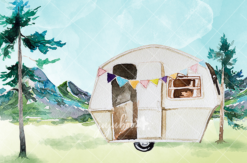Jujuboo Glamping Photography Backdrop