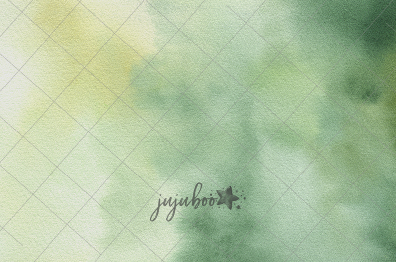 Jujuboo Green Watercolor Photography Backdrop