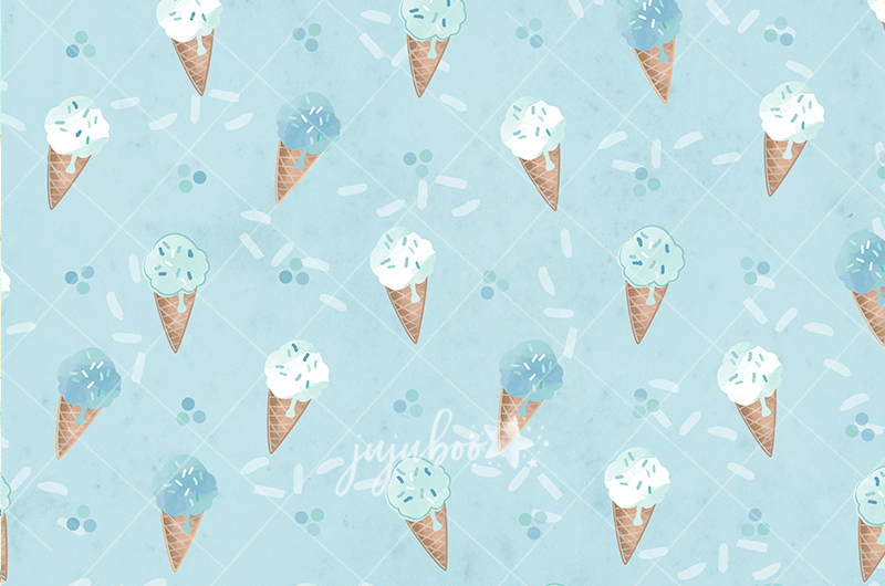 Jujuboo Ice Cream Boy Photography Backdrop