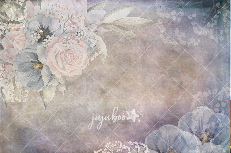 Jujuboo Laureen Floral Photography Backdrop