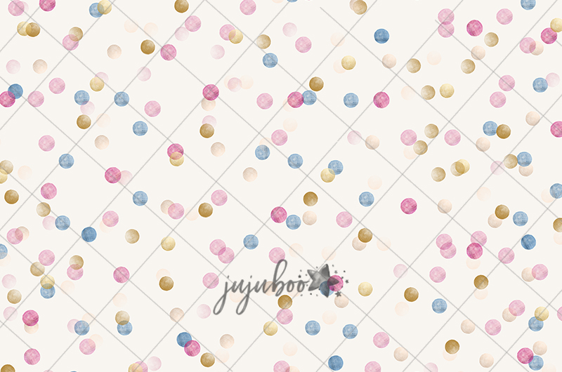 Jujuboo Pastel Dots Photography Backdrop
