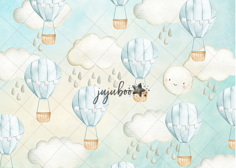 Jujuboo Sweet Skies Pastel Blue Photography Backdrop