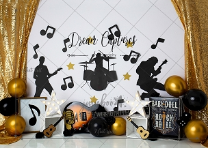 Jujuboo Baby Girl Rock Photography Backdrop