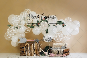 Jujuboo  Balloon Boho Photography Backdrop
