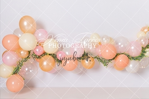 Jujuboo Peachy Pink Photography Backdrop