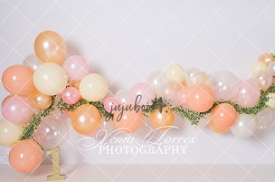 Jujuboo Peachy Pink with 1 Photography Backdrop