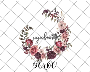 Jujuboo Ambrose Wreath Floral Newborn Photography Backdrop