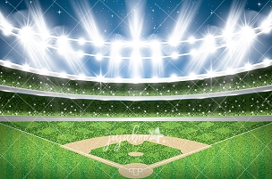 Jujuboo Baseball Diamond Photography Backdrop