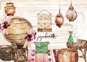 Jujuboo Boho Dreams Photography Backdrop