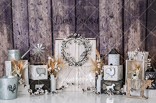 Jujuboo Farmhouse Photography Backdrop