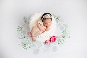 Jujuboo Wreath Newborn Floral Photography Backdrop