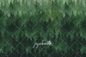 Jujuboo Fir Forest Photography Backdrop