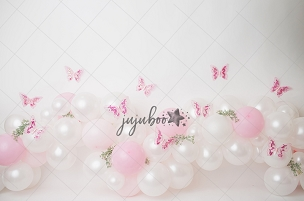 Jujuboo Flutter Pink Photography Backdrop