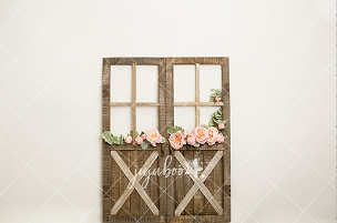 Jujuboo Garden Rose Doors Floral Photography Backdrop