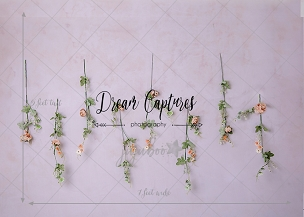 Jujuboo Hanging Floral Photography Backdrop
