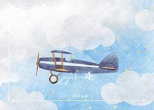 Jujuboo In the Clouds - Navy Blue Photography Backdrop