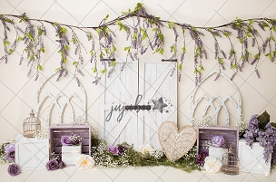 Jujuboo Lavender Boho Photography Backdrop
