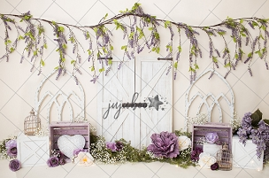 Jujuboo Lavender Gaze Photography Backdrop