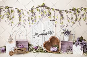 Jujuboo Lavender Heart Photography Backdrop