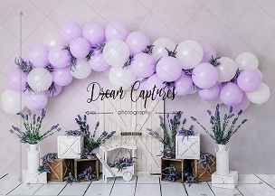 Jujuboo Lavender Love Photography Backdrop