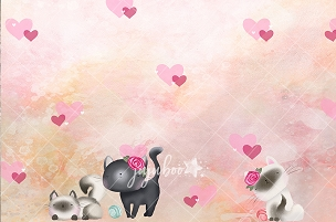Jujuboo Meow Cat Themed Photography Backdrop