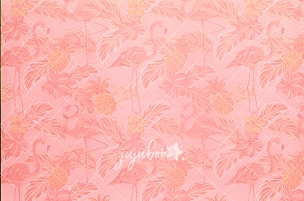 Jujuboo Miami Flamingos Photography Backdrop