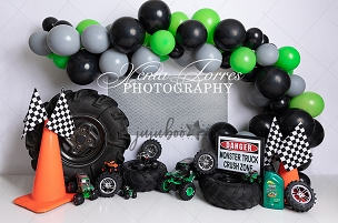 Jujuboo Monster Truck Grand Photography Backdrop