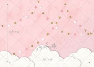 Jujuboo Pink Skies Photography Backdrop