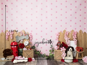 Jujuboo Puppy Love Photography Backdrop