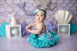 Jujuboo Mermaid Purple Photography Backdrop
