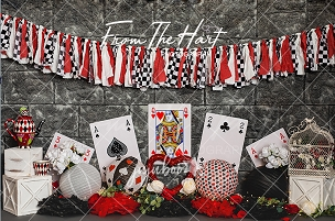 Jujuboo Queen of Hearts Photography Backdrop