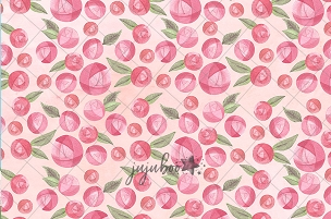 Jujuboo Round Rose Photography Backdrop