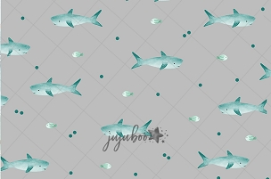 Jujuboo Sharky Grey Backdrop