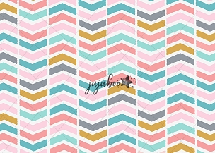 Jujuboo Sherbert Chevron Photography Backdrop