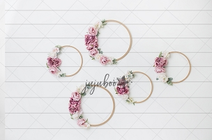 Jujuboo Shiplap Hoops Photography Backdrop