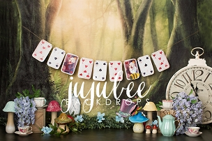Jujuboo Alice in Wonderland Photography Backdrop