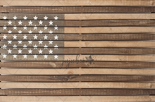 Jujuboo Vintage Flag Photography Backdrop