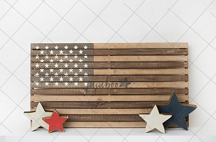 Jujuboo Vintage Flag with Stars Photography Backdrop