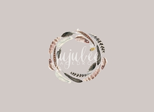 Jujuboo Feather Wreath Newborn Photography Backdrop