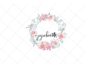 Jujuboo Colbie Wreath Floral Newborn Photography Backdrop