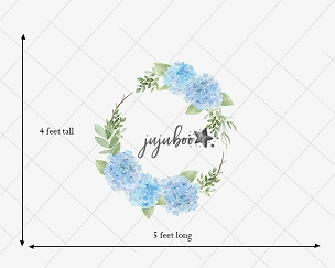 Jujuboo Jessa Wreath Floral Newborn Photography Backdrop