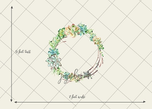 Jujuboo Sedona Wreath Floral Newborn Photography Backdrop