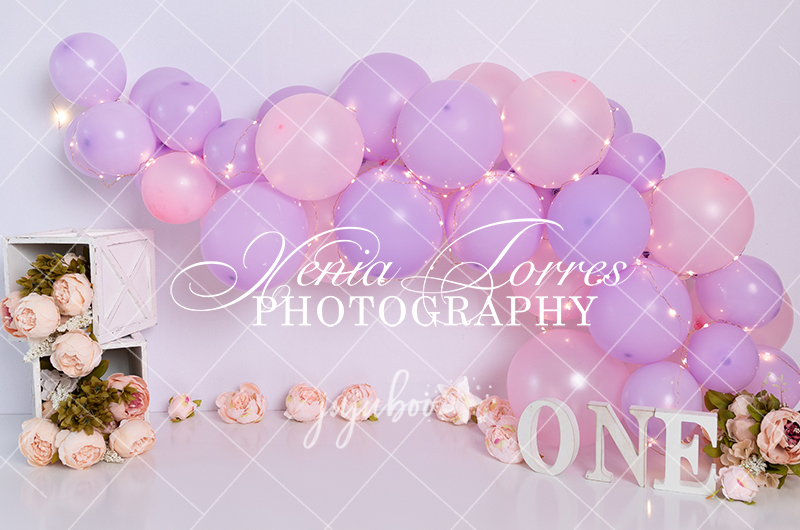 Jujuboo Lavender and Pink Photography Backdrop